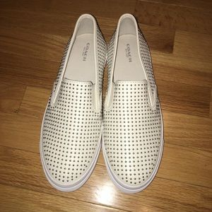 """NWOT Coach """"Maggie"""" Studded Slip-Ons"""